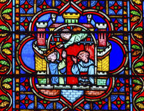 King Castle Paris Stained Glass Notre Dame Cathedral France Royalty Free Stock Images