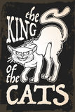 THe king of the cats retro card Stock Image