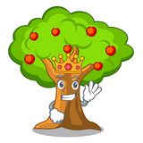 King ccc. King apple tree in agriculture the cartoon vector illustration royalty free illustration