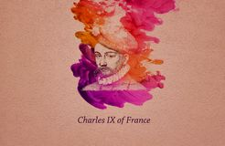 King Charles IX of France royalty free illustration