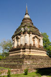 King Chedi, Chiang Mai. Historic Phra Chedi containing the ashes of King Ti-Logaraja, built in 1487 at the Buddhist Temple of Wat Chet Yot, Chiang Mai, Thailand Royalty Free Stock Photography