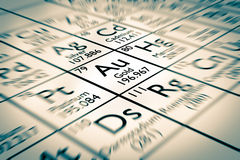 King chemical element GOLD Stock Photo