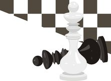 King chess. Abstract background stock image