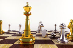 King on Chess Board Royalty Free Stock Photos