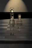 King Chess - business concept series - mentor. Stock Photos