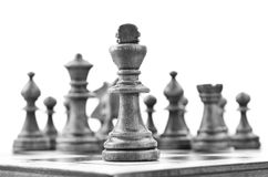 King of chess in the first line Royalty Free Stock Images