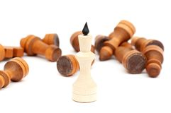 King of a chess game Royalty Free Stock Photography