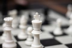 King Chess Game Piece royalty free stock photos