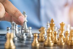 King of chess. 1 2 3 4 Royalty Free Stock Image