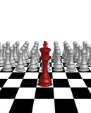 King chess leader Royalty Free Stock Photo