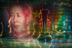 King chess merge with china stock Stock Photos