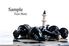 King chess piece Royalty Free Stock Images