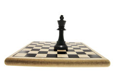 King Chess Piece on Chess Board Stock Images