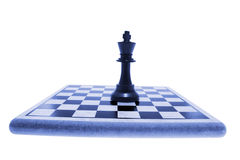 King Chess Piece on Chess Board Stock Image