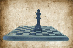 King Chess Piece on Chess Board Stock Photography