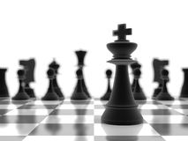 The king chess piece in focus Royalty Free Stock Photos