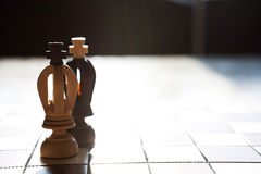 King chess piece with others in background Stock Photos