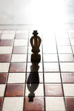 King chess piece with others in background Stock Photography