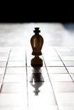 King chess piece with others in background Stock Photo