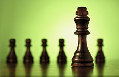 King chess piece with pawns Stock Photography
