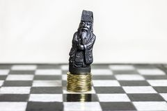 Chess game, close up. royalty free stock photos