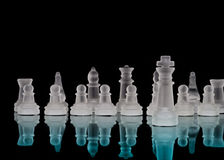 King and Chess Pieces Stock Images