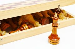 King and chessboard Stock Images