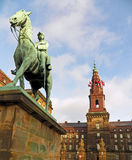 King Christian IX's Equestrian Statue at Christiansborg Palace Royalty Free Stock Photos