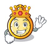 King chronometer character cartoon style Royalty Free Stock Image