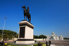 King Chulalongkorn (Rama V) statue and Ananta Samakhom Throne Ha Stock Photos