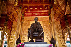 King Chulalongkorn and son statue, King Rama V of Thailand.  Royalty Free Stock Photos