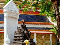 King Chulalongkorn statue at Wat Ratchabopit Stock Images