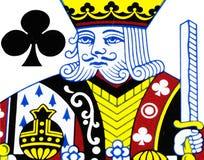 King of club playing card. Closeup Stock Image