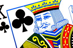 King of clubs Royalty Free Stock Photos