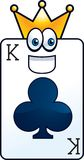 King of Clubs Stock Images