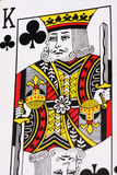 King of Clubs. From a deck of playing cards royalty free stock image