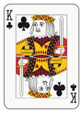 King of clubs. Playing card Stock Photos