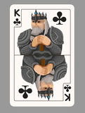 King of clubs playing card Royalty Free Stock Photos