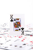 A king of clubs Stock Images