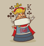 King of Clubs typography, t-shirt graphics , s Stock Photography