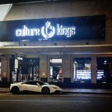 A king at cluture kings. Perfect place to park your car stock photo