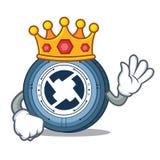 King 0X coin mascot cartoon. Vector illustration Royalty Free Stock Image