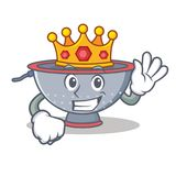 King colander utensil character cartoon Stock Photography