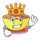King corn chowder in a cartoon plate royalty free illustration
