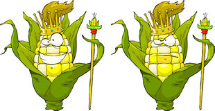 King corn. On a white background vector Royalty Free Stock Photos