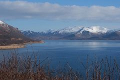 King Cove Alaska. King Cove Agdaaĝux in Aleut is a city in Aleutians East Borough, Alaska, United States. Harbor view of King Cove along King Cove Road royalty free stock photography