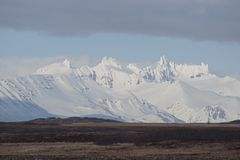 King Cove Alaska. King Cove Agdaaĝux in Aleut is a city in Aleutians East Borough, Alaska, United States. Mountain view along King Cove Road royalty free stock photos