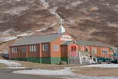 King Cove Bible Chapel Alaska. King Cove Bible Chapel in King Cove, Alaska is a Christian congregation serving the King Cove community and seeking, engaging, and royalty free stock images