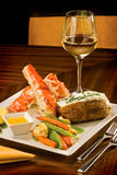 King Crab dinner Royalty Free Stock Images