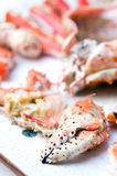 King crab food Stock Photos